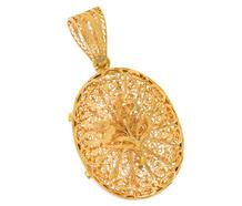 Gossamer Gold Locket Vinaigrette Pendant