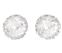 Fancy Free - Zircon & Diamond Stud Earrings