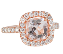 Magnificent 1.9 ct Morganite Diamond Cluster Ring