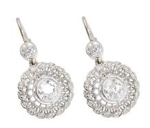 Brocade of Diamonds in an Earring