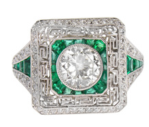 Electrifying Emerald Diamond Ring