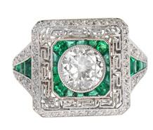 Electrifying Emerald Diamond Ring