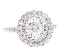 Femininity in Flower - Diamond Halo Ring