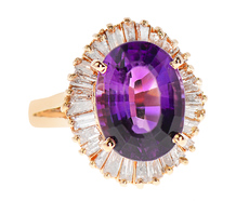 Dance Me - Amethyst Diamond Ballerina Ring
