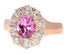 Victorian No-Heat Pink Sapphire Ring