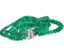 Double Pleasure - Art Deco Emerald Necklace