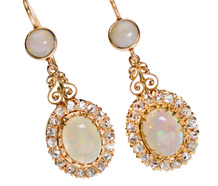 Opals & Diamonds - Exquisite Earrings
