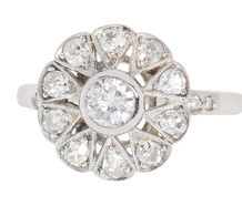 Petals of Perfection - Diamond Halo Ring