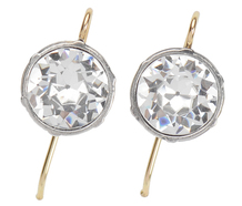 Night Magic – Solitaire Paste Earrings 2.5 ct.