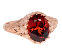 Spiced - Garnet Rose Gold Ring