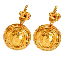 Victorian Egyptian Revival Scarab Earrings