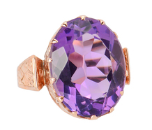 Freewheeling - Victorian Amethyst Ring