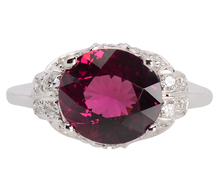 Treasure Hunt - Rhodolite Garnet Diamond Ring