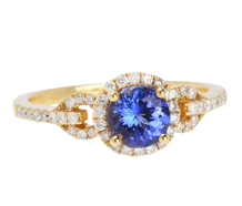 Blue Ribbon - Tanzanite Diamond Ring