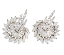 Portends - Diamond Platinum Earrings