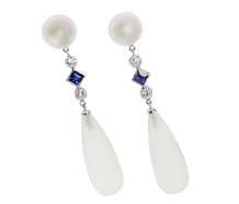Frosted Finesse - Rock Crystal Earrings