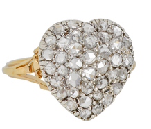 Heart in Hand - Edwardian Diamond Ring