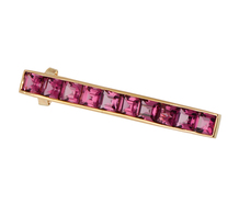 Think Pink - Tourmaline Set Gold Hair Clip