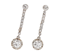 Swingin' Diamond Drop Earrings
