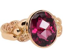 Epicene Edwardian Garnet Ring
