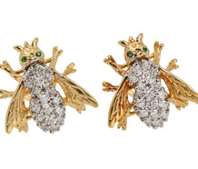 On the Fly - Diamond Emerald Earrings