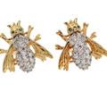On the Fly - Diamond Emerald Earrings