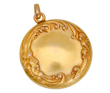 Art Nouveau Man in the Moon Locket
