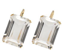 Cool as Ice - Retro Rock Crystal Earrings