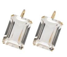 Cool as Ice - Retro Rock Crystal Earrings