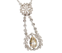 Edwardian Wisps - Diamond Platinum Necklace