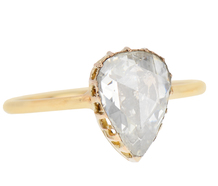 Solitaire 2.03 C Rose Cut Diamond Ring