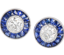 Must Haves - Diamond Sapphire Earrings