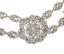 Rental - Edwardian Festoon Paste Necklace