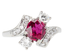 At an Angle - Ruby Diamond Ring