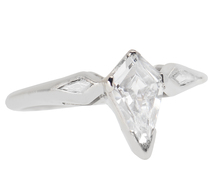"Fancy Cut Kite Shaped Diamond Ring ""D"" Color"