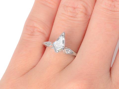 Fancy Cut Kite Shaped Diamond Ring Quot D Quot Color