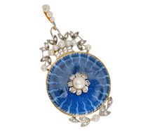 Age of Elegance - Diamond Enamel Pendant
