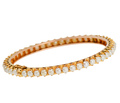 In the Round - Pearl Gold Bangle Bracelet