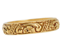 Golden Wedding - Scrolling Band of 18k