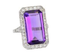 Electrifying Amethyst Diamond Ring
