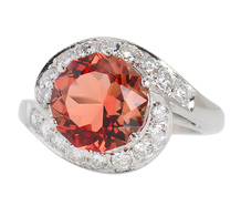 Americana - Oregon Sunstone Diamond Ring