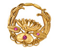 Water's Edge - Lotus Art Nouveau Brooch