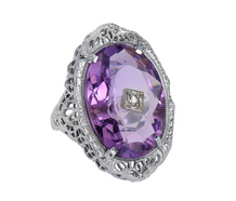 Fantasy & Lace - Amethyst Diamond Ring