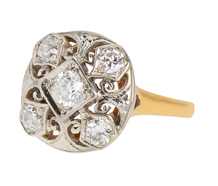 Swirls & Curls - Vintage Diamond Ring