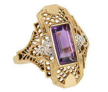 Lilac Arbor - Amethyst Diamond Ring