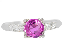 Heavenly Pink Tourmaline Diamond Ring