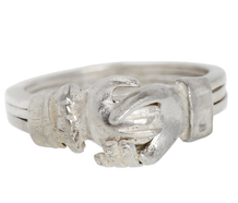 Silver Fede Gimmel Ring