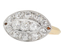 Vintage Diamond Palladium & Gold Ring