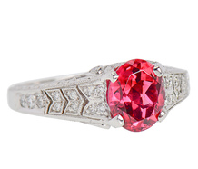 Platinum Perfect - Kelége Rubelite & Diamond Ring