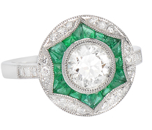Variation - Diamond Emerald Ring
